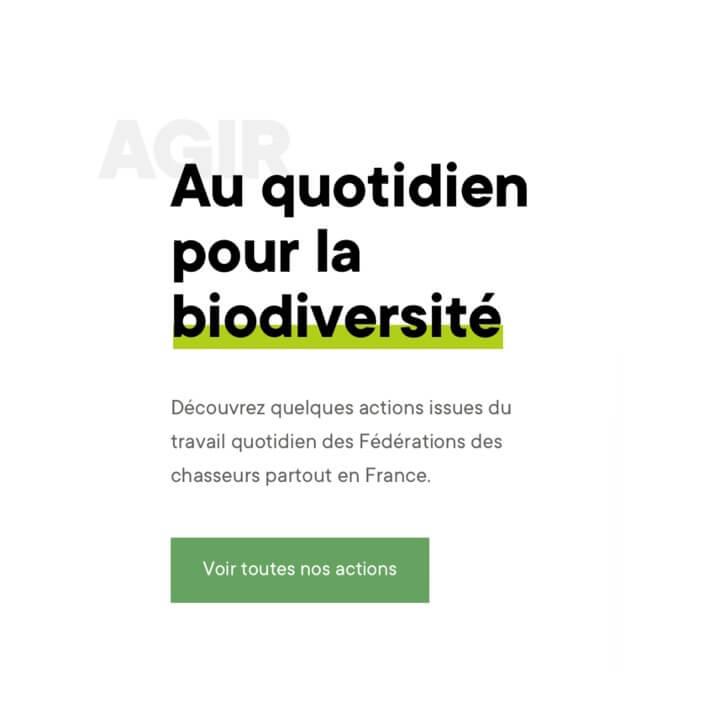 Page Agir Siteweb Fédération Nationale des Chasseurs
