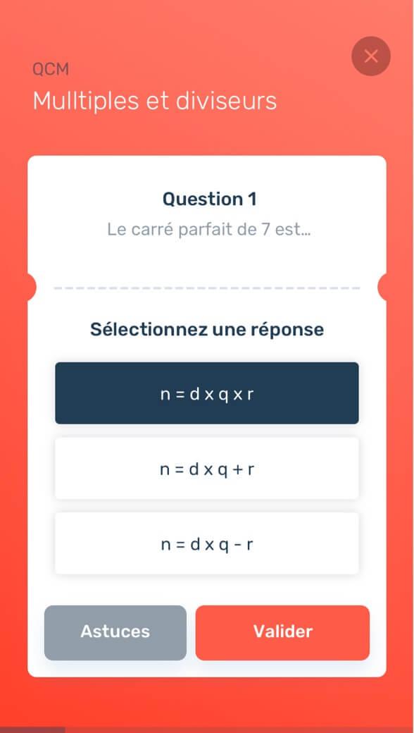 Questionnaire QCM Les Bons Profs