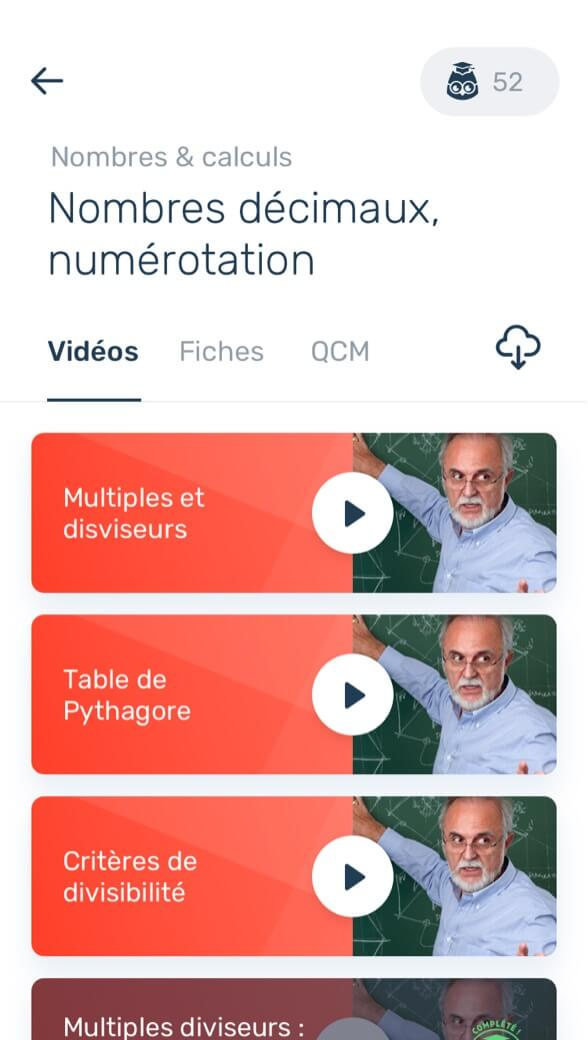 Écran mobile Les Bons Profs
