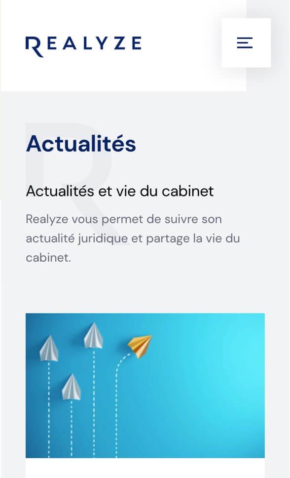 Écran mobile Realyze 3