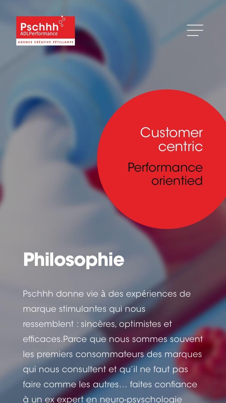 Accueil site PSCHHH Mobile version