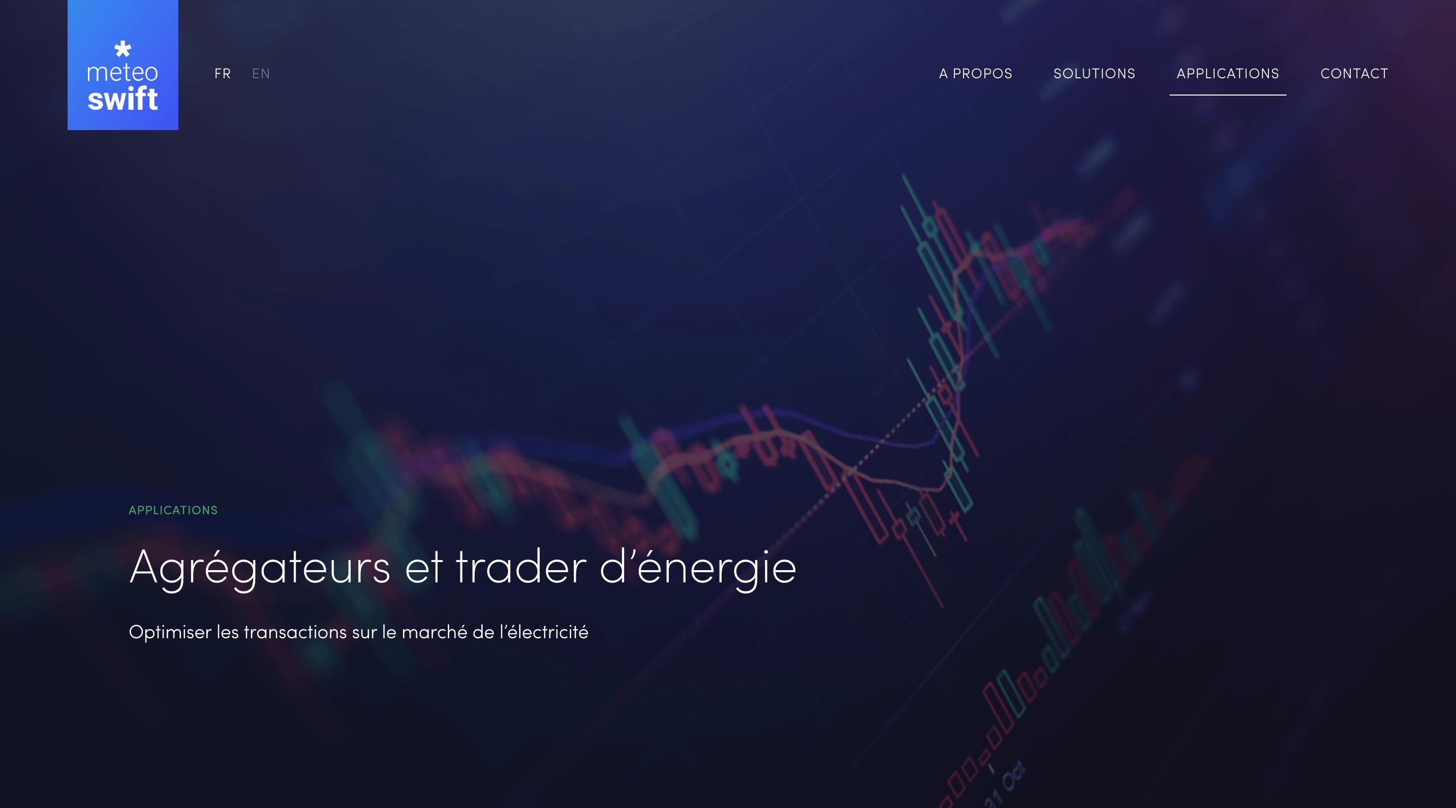 Page Agrégateurs et traders d'énergie Meteo*Swift